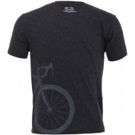 CAMISETA CASUAL MÁRCIO MAY BIKE SPEED BOTONÊ PRETA