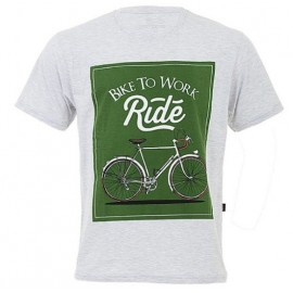 CAMISETA CASUAL MÁRCIO MAY BIKE SPEED TO WORK GRAY/ GREEN