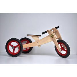 KIT BIKE INFANTIL WOODBIKE 3X1 - VERMELHA