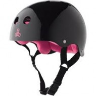 CAPACETE TRIPLE EIGHT PRETO E ROSA