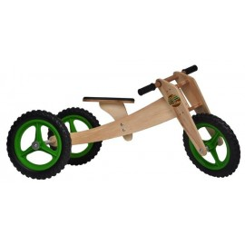 KIT BIKE INFANTIL WOODBIKE 3X1 - VERDE
