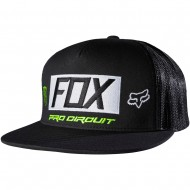 BONÉ FOX MONSTER PADDOCK SNAPBACK PRETO